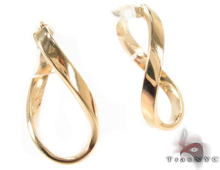 14K Gold Hoop Earrings 31368 Metal