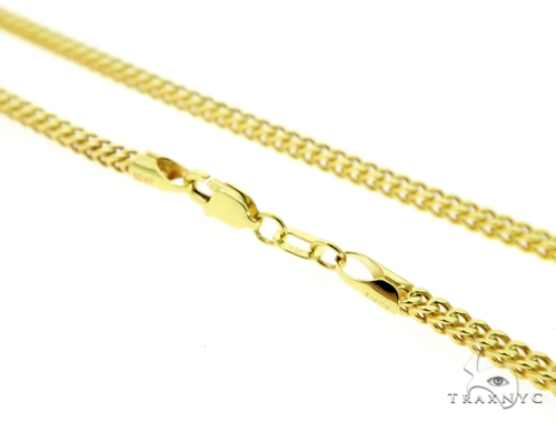 14K Gold Jesus Pendant and 10K Gold Franco Chain Set 45497 Style