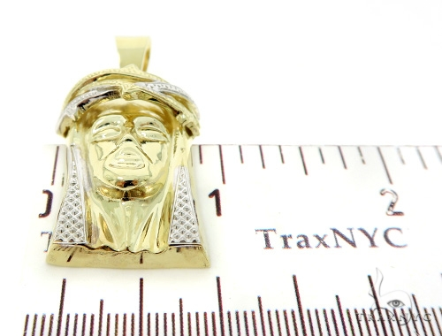 14K Gold Jesus Pendant and 10K Gold Franco Chain Set 49667 Style