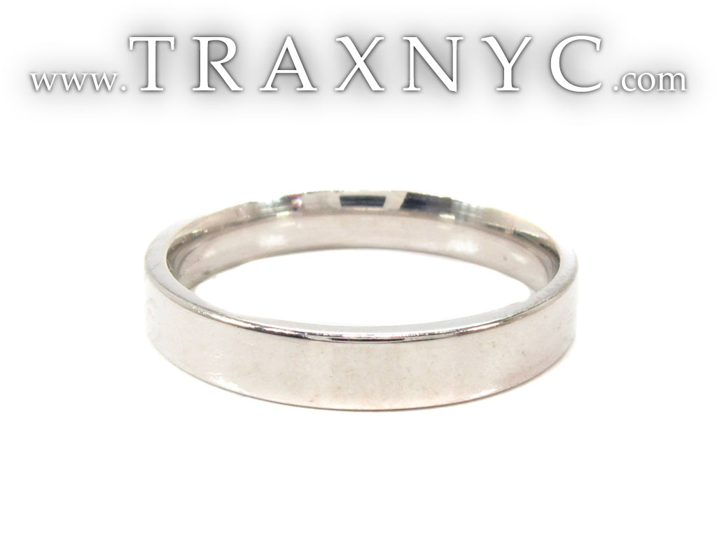Mens Plain As Can Be White Gold Wedding Ring 31734