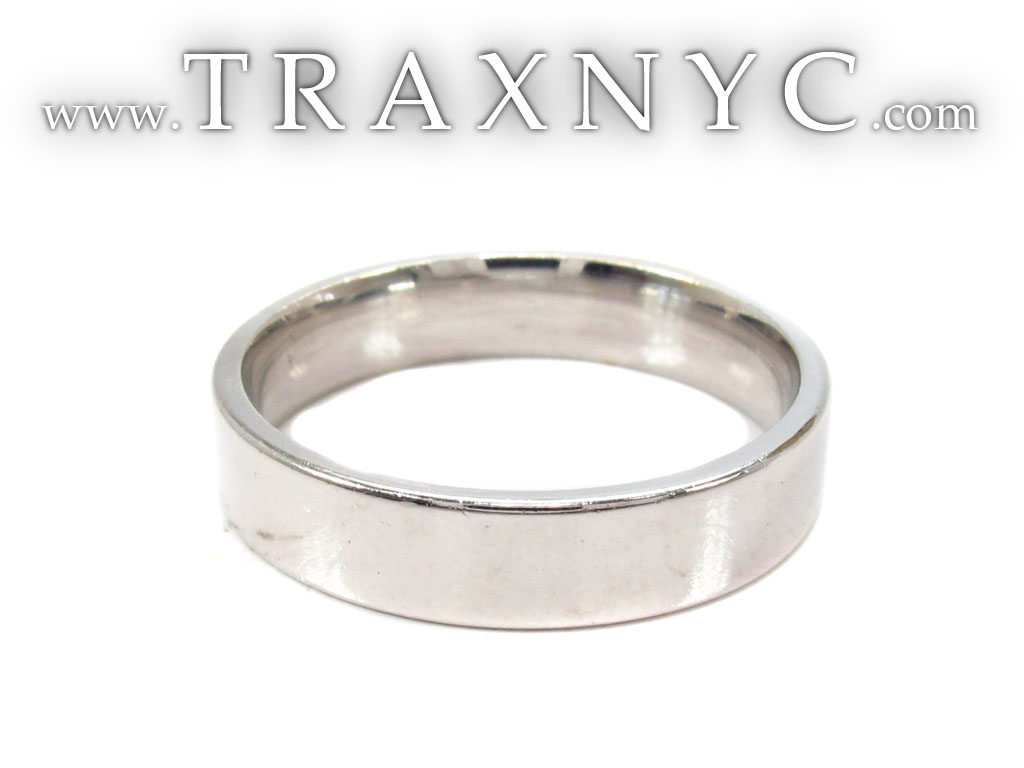 Mens Plain White Gold Wedding Ring Mens White Gold Diamond Wedding Ring