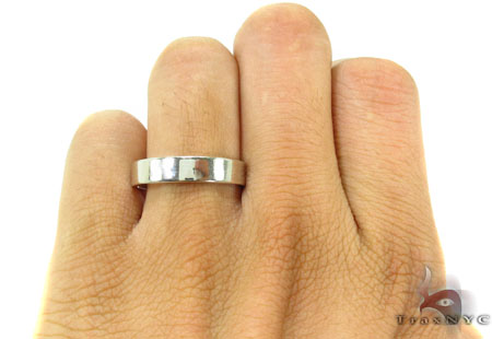 Mens Just Stunning White Gold Wedding Ring Style