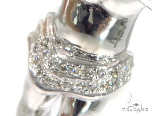 14K Gold Prong Diamond Angel Pendant 45400 Style