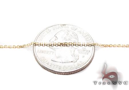 14K Gold Prong Diamond Cross Necklace 32223 Diamond