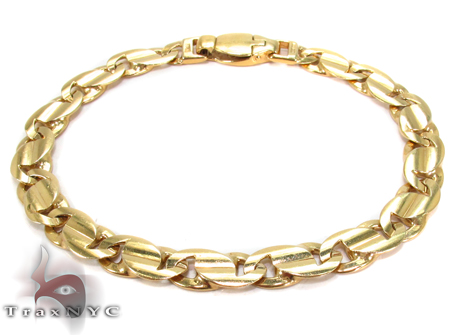 14K Gold Tiger Eye Bracelet 31276 Gold