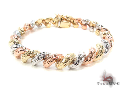 14K Multi-Color Bracelet 34950 Gold
