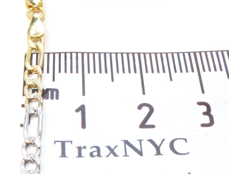 14K Multi-Color Figaro Chain 16 Inches, 3mm, 3.2Grams Gold