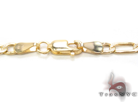 14K Multi-Color Figaro Chain 18 Inches, 3mm, 4.0Grams Gold