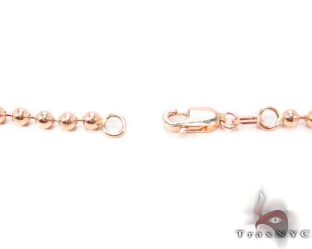 14K Rose Gold Beads Chain 26 Inches 3mm 18.2 Grams Gold