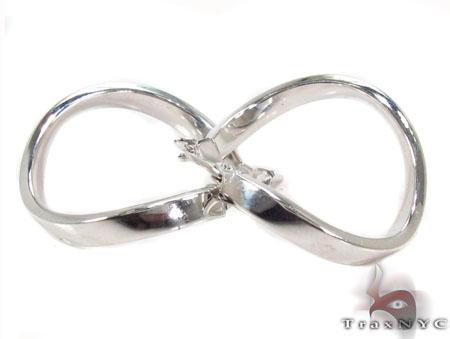 14K White Gold  Hoop Earrings 31367 Metal