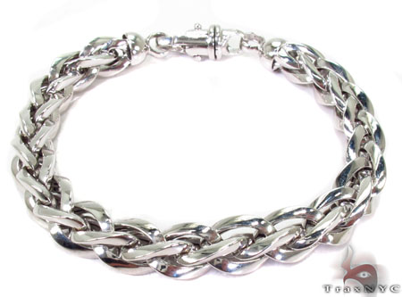 14k white gold braded bracelet gold mens bracelet white. Black Bedroom Furniture Sets. Home Design Ideas