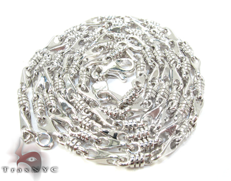 14K White Gold Chain 20 Inches, 2mm, 13.3 Grams Gold