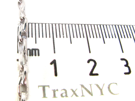 14K White Gold Chain 20 Inches, 3mm, 11.6 Grams Gold