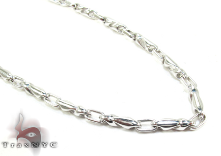 14K White Gold Chain 20 Inches, 3mm, 17.1 Grams Gold