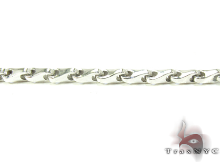 14K White Gold Chain 24 Inches, 3mm, 33.1 Grams Gold