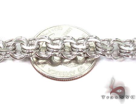 14K White Gold Charm Bracelet Gold