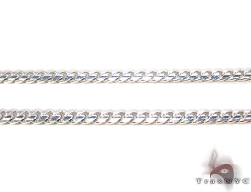 14K White Gold Cuban Chain 22 Inches, 3mm, 18Grams Gold