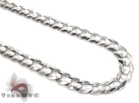 14K White Gold Cuban Chain 24 Inches 5mm 14.2 Grams Gold