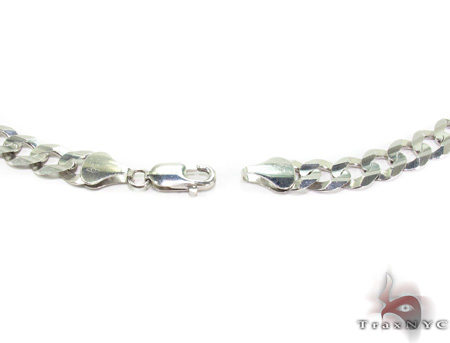 14K White Gold Cuban n 24 Inches 9mm 49.7 Grams Gold