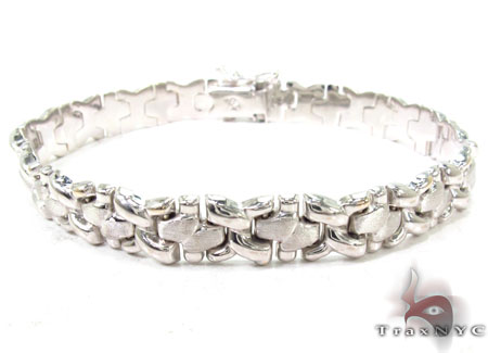 14K White Gold Fancy Italian Bracelet Gold