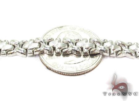 14K White Gold Fancy Italian Bracelet Gold