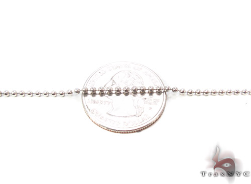 14K White Gold Millitary Chain 22 Inches, 2mm, 6.30 Grams Gold
