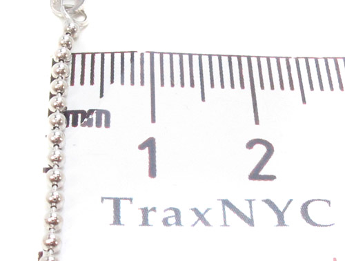 14K White Gold Fancy Link Chain 24 Inches, 2mm, 6.90 Grams Gold
