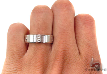14K White Gold Fancy Ring 31762 Style