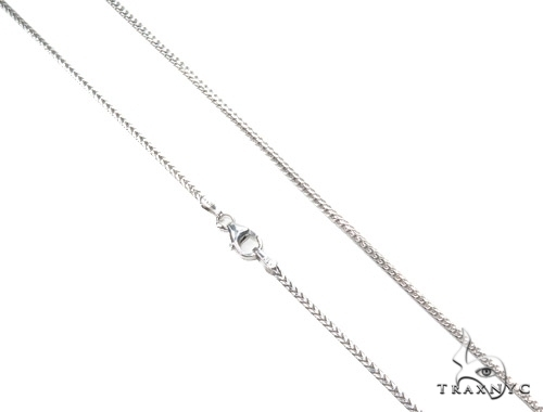 14K White Gold Franco Chain 22 Inches, 1mm, 5.26Grams Gold