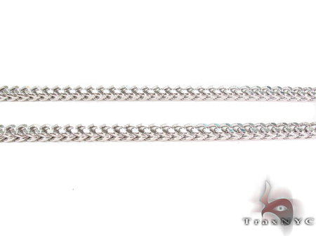 14K White Gold Franco Chain 22 Inches 3mm 12.16 Grams Gold