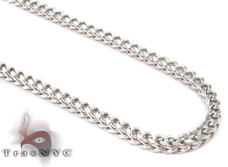 14K White Gold Franco 32 Inches 3mm 17.68 Grams Gold