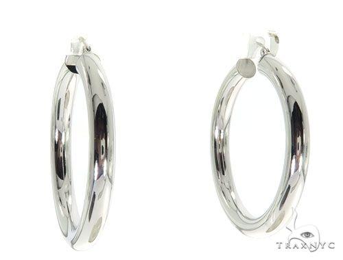 14K White Gold Hoop Earrings 58625 Style