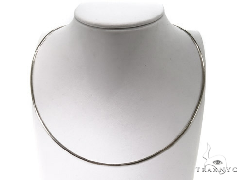 14K White Gold Necklace 40606 Gold