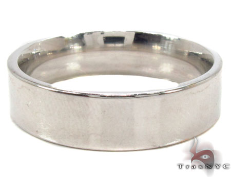 14K White Gold Plain Ring 31733 Style