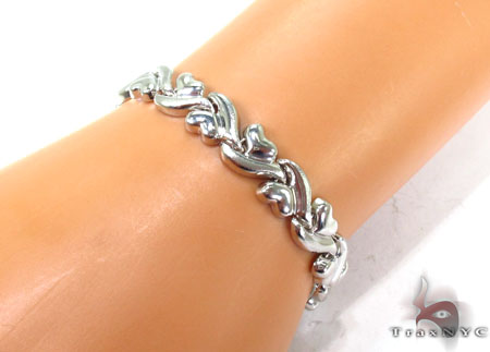 14K White Gold Swivel Bracelet Gold