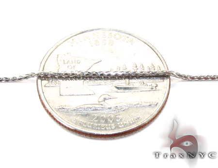 14K White Gold Thin n 18 Inches 1mm 2.6 Grams Gold