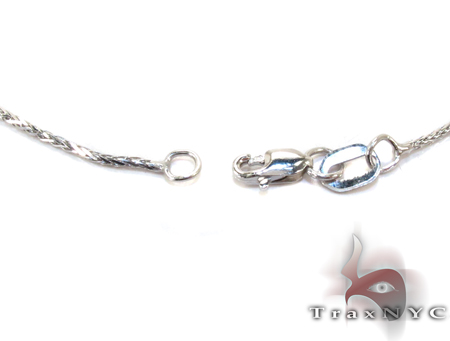 14K White Gold Thin Chain 24 Inches 1mm 3.4 Grams Gold