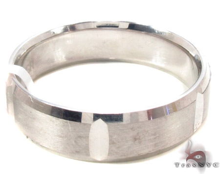 14K White Gold Wedding Band 33674 Style
