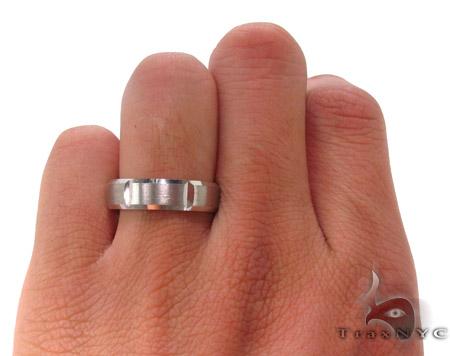 14K White Gold Wedding Band 33674 Style