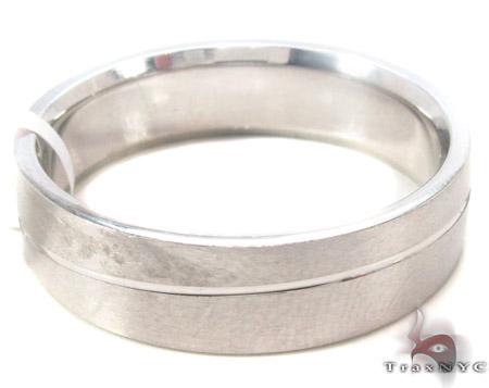 14K White Gold Wedding Band 33675 Style