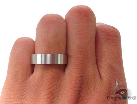 14K White Gold Wedding Band 33676 Style