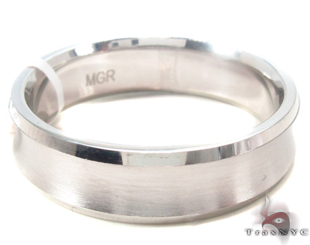 14K White Gold Wedding Band 33680 Style