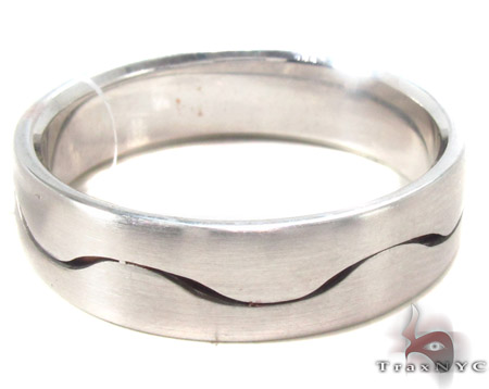 14K White Gold Wedding Band 33683 Style