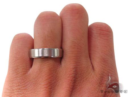 14K White Gold Wedding Band 33684 Style