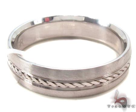 14K White Gold Wedding Band 33685 Style
