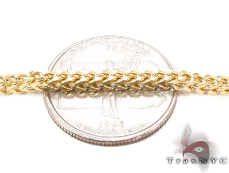 14K Yellow Gold Franco Chain 34 Inches 3mm 19.13 Grams Gold