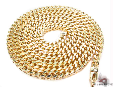 14K Yellow Gold Franco Chain 40 Inches 5mm 73.8 Grams Gold