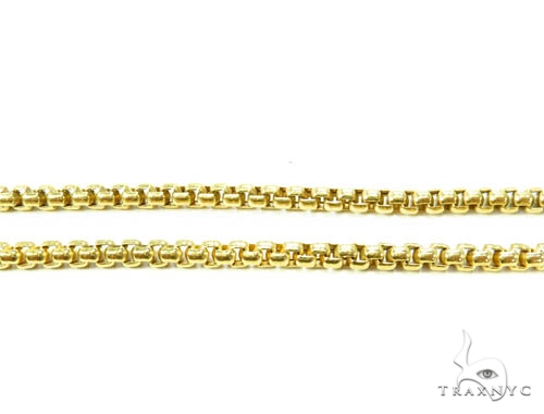 14K Gold Round Box Hollow Chain 20 Inches 3.5mm 13.30 Grams Gold