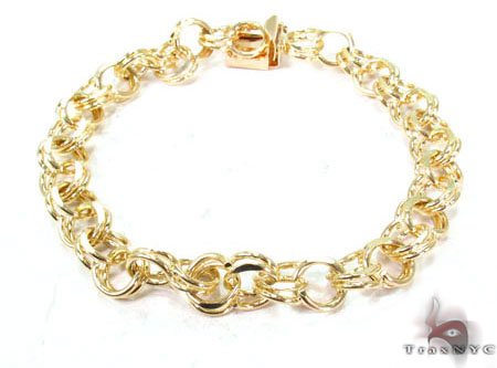 14K Yellow Gold Charm Bracelet Gold