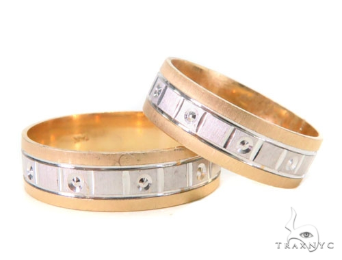 535e3b07f0 14K Yellow Gold Couple Ring Set 43689 Ladies Engagement Yellow Gold 14k
